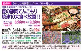 夏の静岡てんこもり 焼津10大食べ放題!